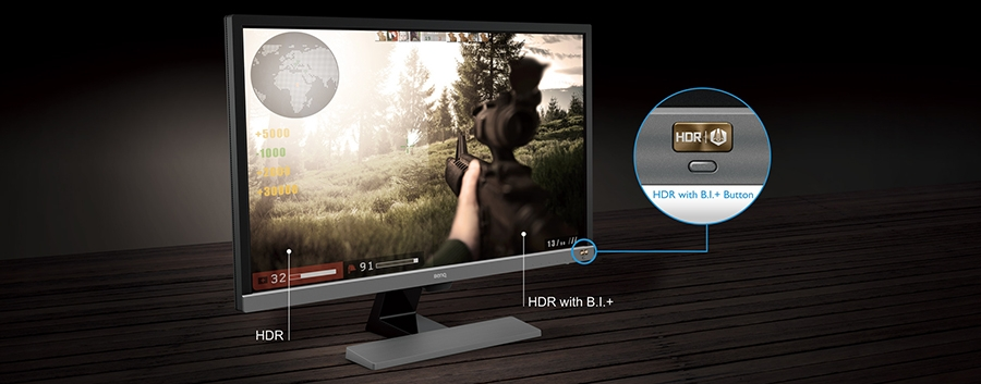 BenQ EW277HDR HDR and BI+ Tech