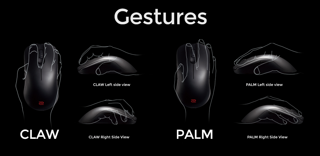 Zowie FK Series Mouse Gestures
