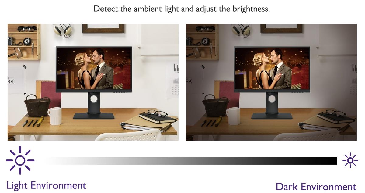 BenQ BL2780T Light Adjustment