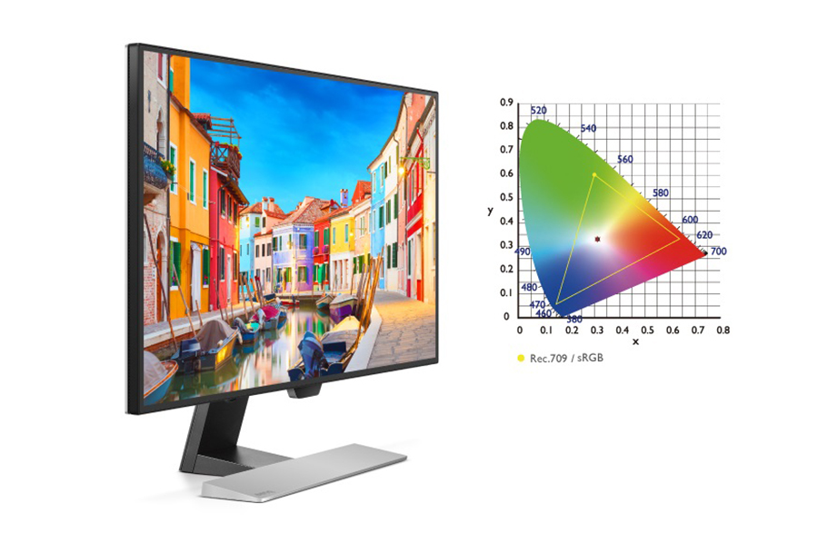BenQ EW2770QC rec. 709 and 100% sRGB color space
