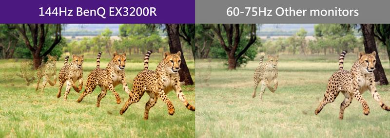 BenQ EX3200R 144Hz Refresh Rate 144FPS