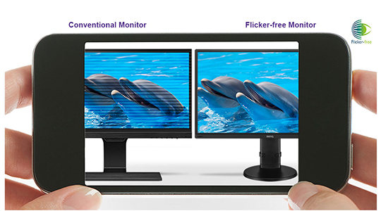 BenQ GL2706PQ Zeroflicker flicker-free technology