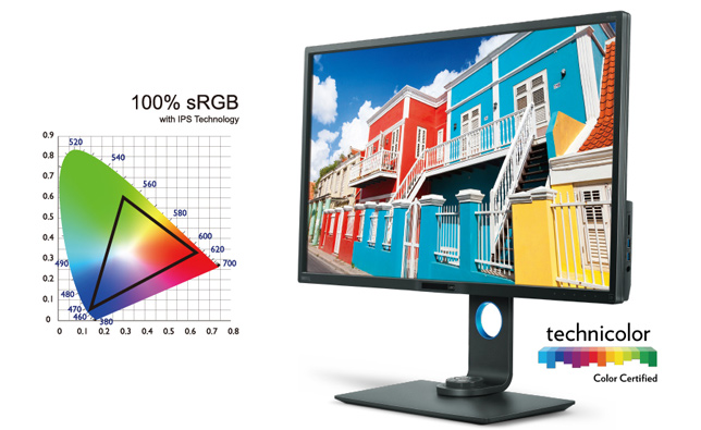 BenQ PD3200U 100% sRGB and Rec. 709
