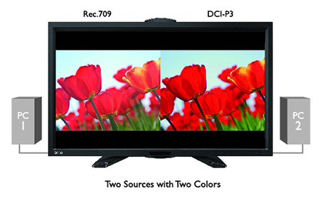 BenQ PV270 GamutDuo allows side-by-side comparison from two different sources