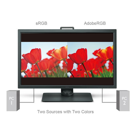 BenQ SW320 GamutDuo simultaneous side-by-side picture comparison