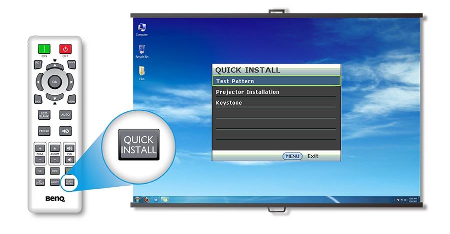 BenQ MH530FHD Quick Install