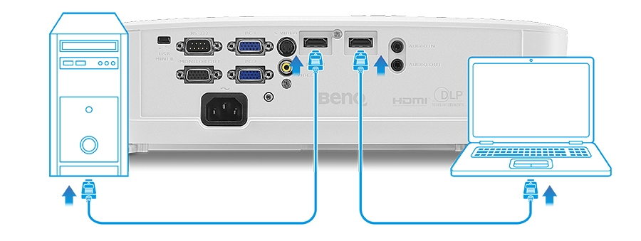 BenQ MS524AE Multiple HDMI and VGA Inputs