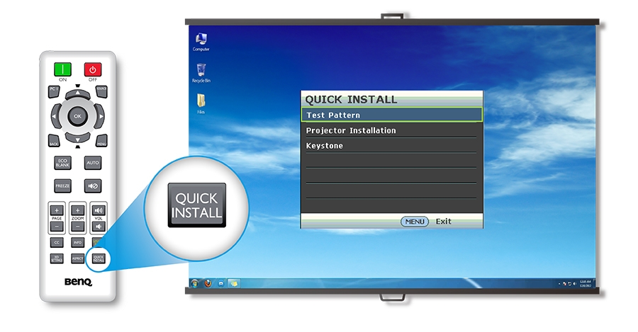 BenQ MS524AE Quick Install Button