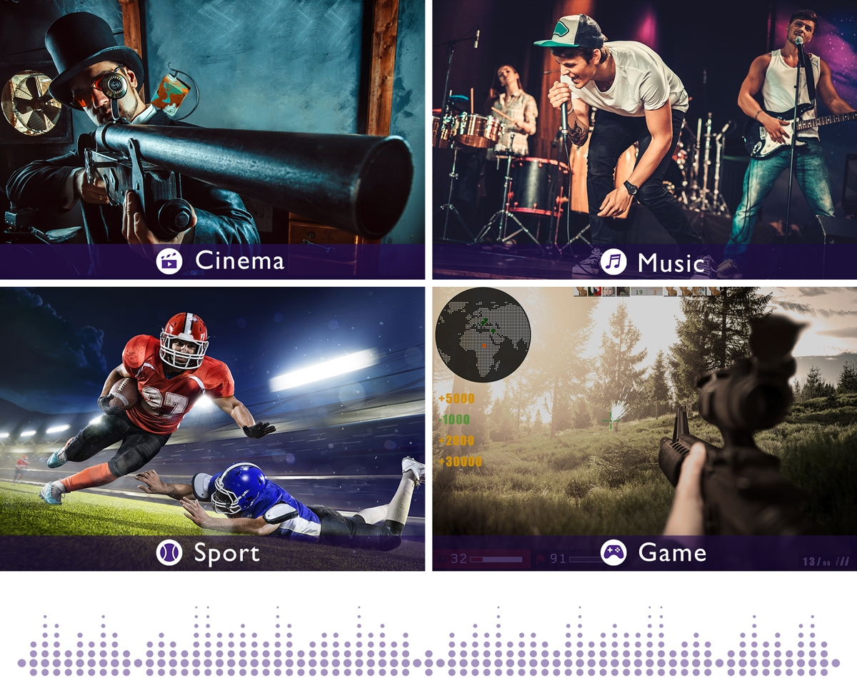 TH671ST picture modes, Cinema, music, sports, game
