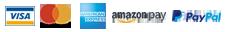 VISA Mastercard AMEX Amazon Paypal