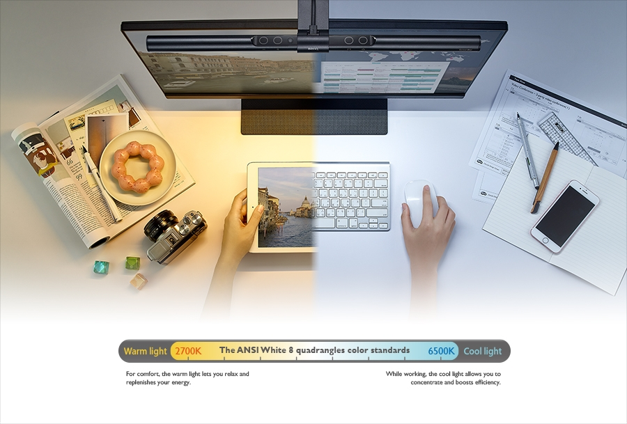 BenQ ScreenBar e-Reading LED Lamp Adjustable Color Temperature